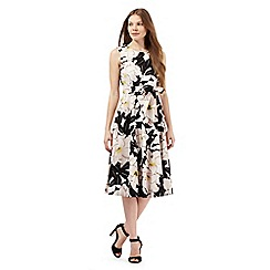 Betty Jackson.Black - Multi-coloured floral print prom dress