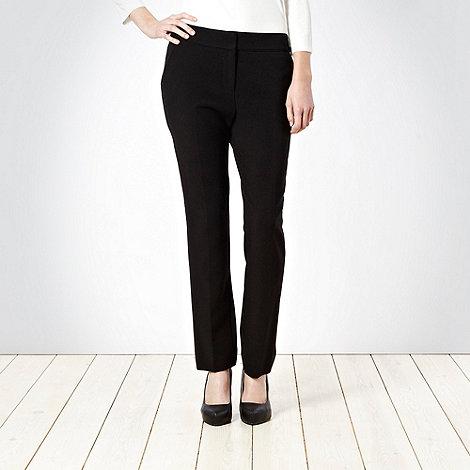 Betty Jackson.Black - Black crepe straight leg trousers