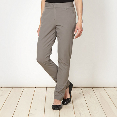 Betty Jackson.Black - Designer light brown slim leg trousers