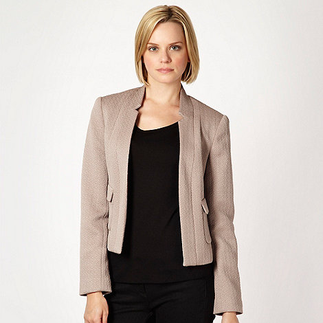 Betty Jackson.Black - Taupe textured jacket