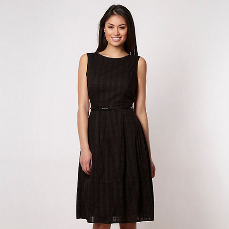Betty Jackson.Black - Designer black textured checked dress