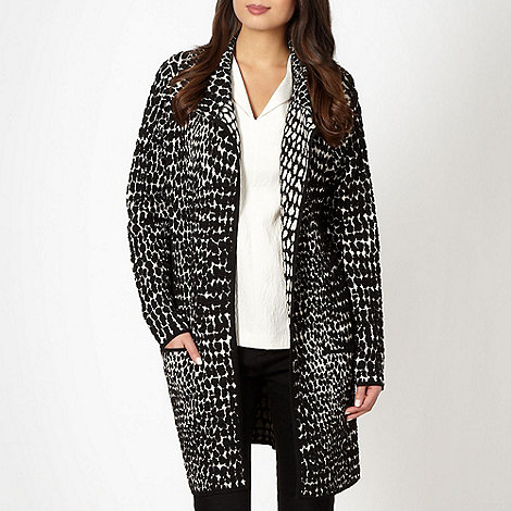 Betty Jackson.Black - Designer black jacquard knit cardigan
