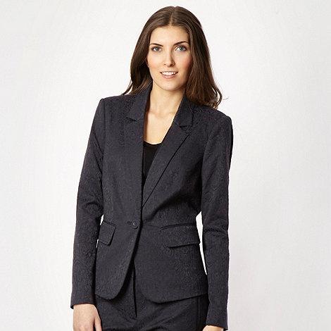 Betty Jackson.Black - Navy tailored jacquard print jacket
