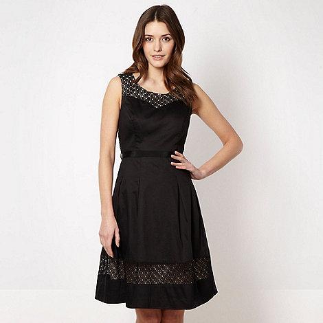 Betty Jackson.Black - Designer black lace panelled prom dress