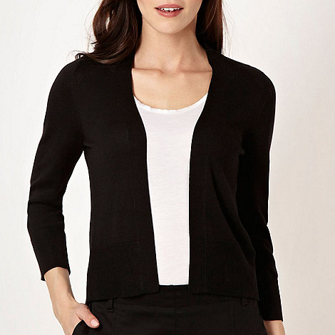 Betty Jackson.Black - Designer black patterned cardigan