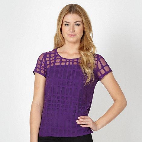 Betty Jackson.Black - Designer purple burnout top