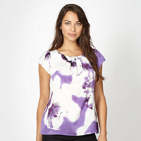 Betty Jackson.Black - Designer purple floral top