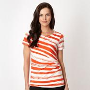 Designer dark orange broken striped top