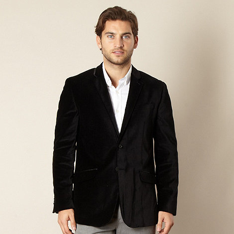 Jeff Banks - Big and tall designer black velvet dinner jacket