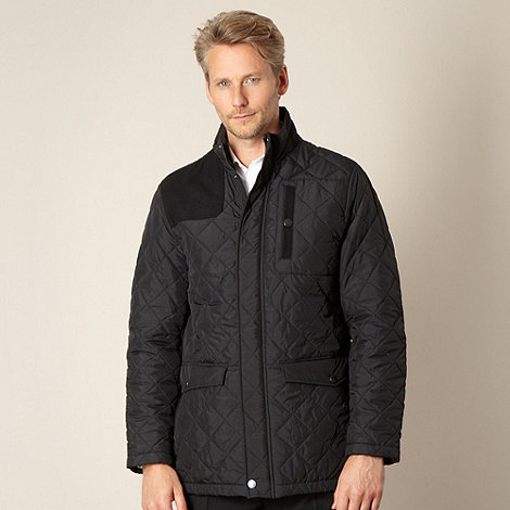 Jeff Banks - Designer black quilted jacket