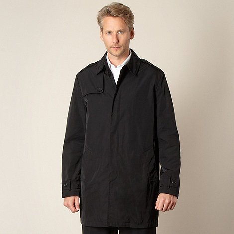 Jeff Banks - Designer black mac coat