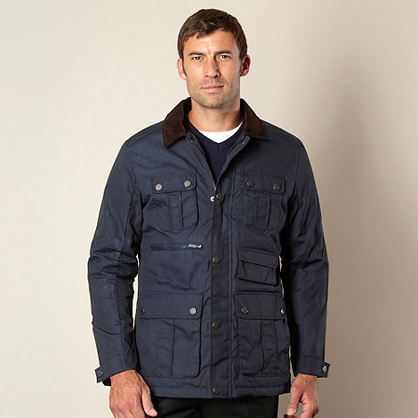 Jeff Banks - Designer navy five coated jacket