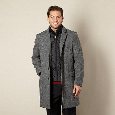 Jeff Banks - Designer grey herringbone coat