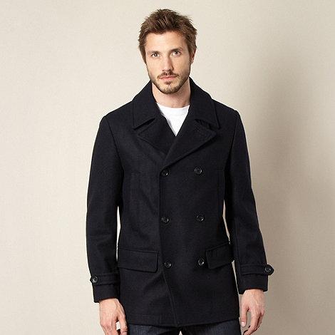 Jeff Banks - Navy wool reefer coat