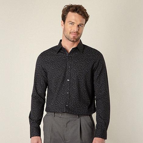 Jeff Banks - Designer black floral shirt