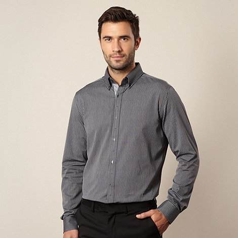 Jeff Banks - Designer black tramline striped shirt