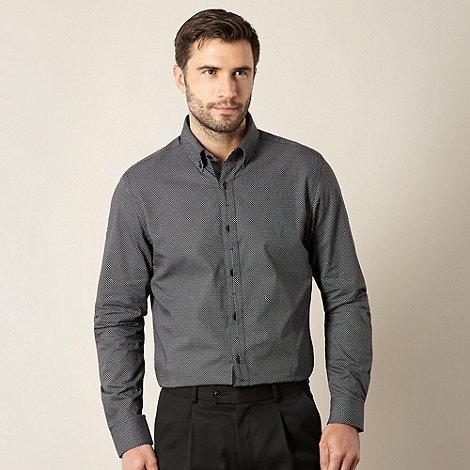 Jeff Banks - Designer black circle polka dot shirt