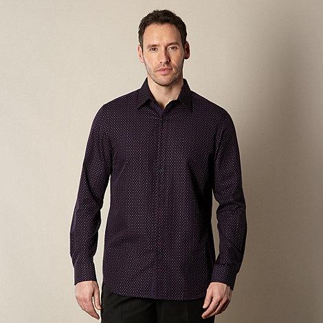 Jeff Banks - Designer purple patterned shirt