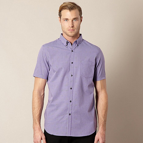 Jeff Banks - Designer purple mini checked shirt