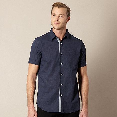 Jeff Banks - Designer navy fine dotted shirt