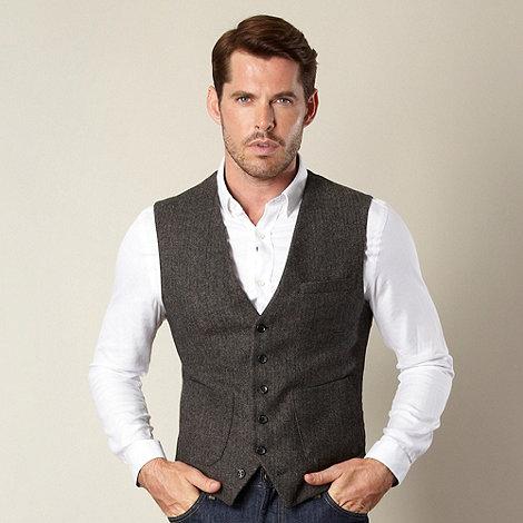 Jeff Banks - Designer brown herringbone waistcoat