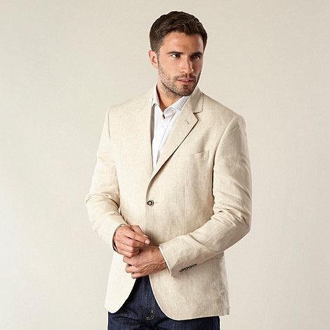 Jeff Banks - Big and tall designer natural linen blazer