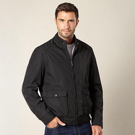 Jeff Banks - Big and tall designer black harrington jacket