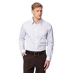Jeff Banks - Big and tall designer white baroque shirt