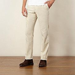 Jeff Banks - Designer natural drawstring linen blend trousers