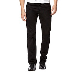 Jeff Banks - Big and tall designer black straight leg jeans