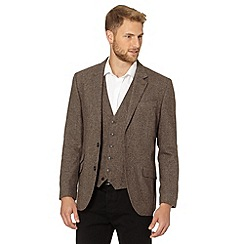 Jeff Banks - Designer brown wool blend blazer