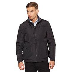 Jeff Banks - Designer black padded harrington jacket