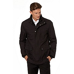Jeff Banks - Designer black mock layer car coat