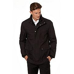 Jeff Banks - Designer black mock layer car coat