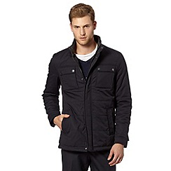 Jeff Banks - Big and tall designer navy quilted jacket