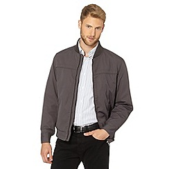 Jeff Banks - Big and tall designer dark grey baseball jacket