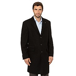 Jeff Banks - Designer black wool blend overcoat