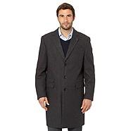 JEFF BANKS Designer grey wool blend overcoat - Was £250.00  Now £125.00