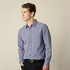 Jeff Banks - Big and tall designer purple gingham shirt