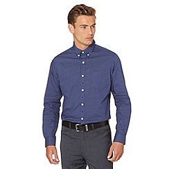 Jeff Banks - Big and tall navy polka dot shirt