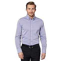 Jeff Banks - Big and tall designer lilac arrow jacquard shirt