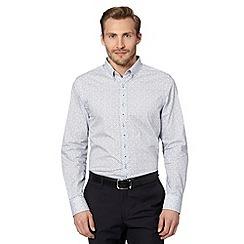 Jeff Banks - Big and tall designer white floral print shirt