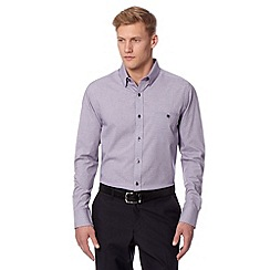 Jeff Banks - Big and tall designer purple gingham checked shirt