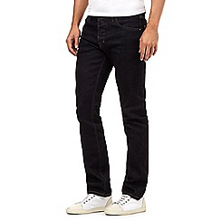 Jeff Banks - Big and tall designer dark blue rinse straight fit jeans
