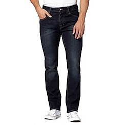 Jeff Banks - Designer dark blue wash straight fit jeans