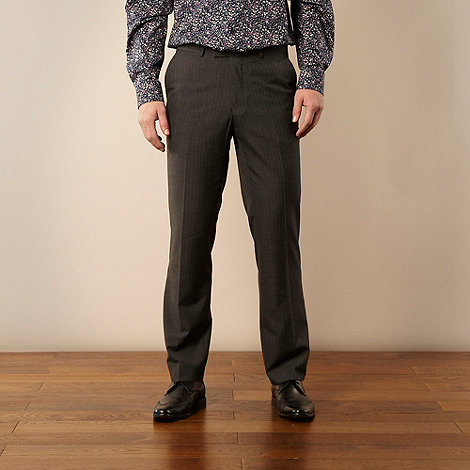 Jeff Banks - Designer grey pinstripe trousers