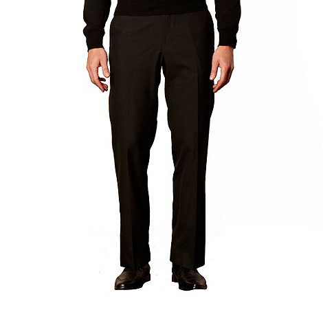 Jeff Banks - Big and tall black plain trousers