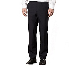 Jeff Banks - Big and tall navy wool blend trousers