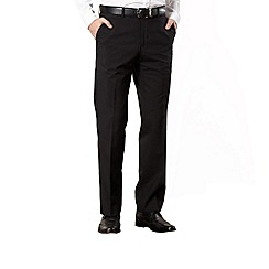 Jeff Banks - Big and tall black wool blend trousers