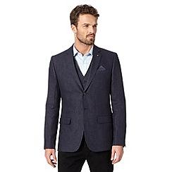 Jeff Banks - Designer navy pure linen blazer